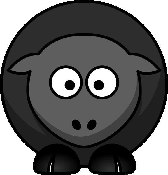 Black Flower 3 Clip Art At Clker Com: Black Sheep Without Flower Clip Art At Clker.com