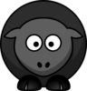Black Sheep Without Flower Clip Art
