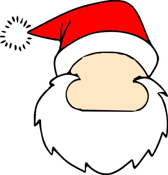 Blank Santa Face Clip Art at Clker.com - vector clip art online ...