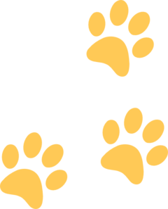 Gold Paw Clip Art