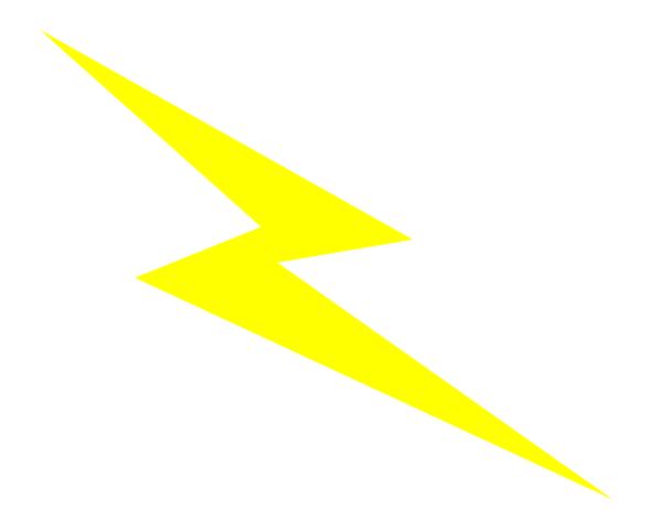 Yellow Lightening Bolt Clip Art At Vector Clip Art Online Royalt