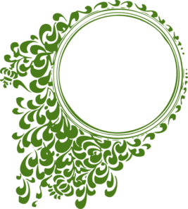 Circle Fillagree Green Clip Art