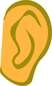 Ear - Gold Clip Art