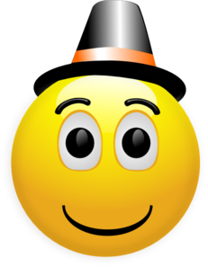 Happy Smiley Wearing Topper Clip Art