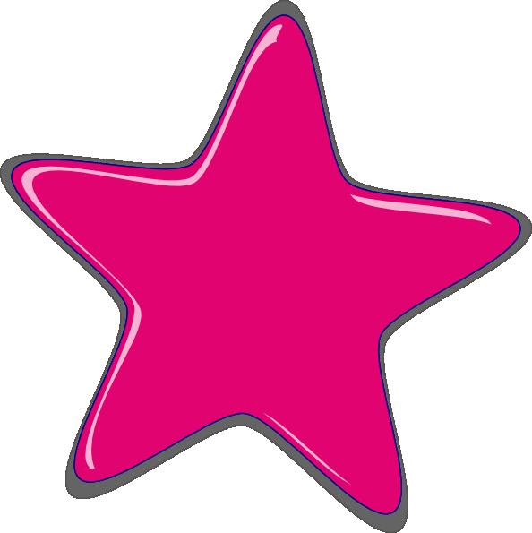 pink star clip art at clker com vector clip art online royalty rh clker com hot pink star clip art Green Star Clip Art