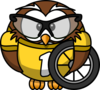 Owl Bicyclist Clip Art
