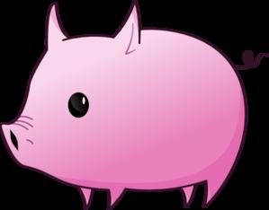 pink piglet clip art at clker com vector clip art online royalty rh clker com cute piglet clipart piglet clipart black and white