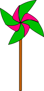 Pink And Light Green Pinwheel Clip Art