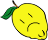 Sad Lemon Clip Art