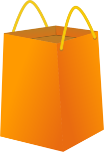 Orange Tote Clip Art