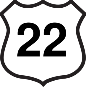 route 22 sign clip art at clker com vector clip art online