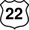 Route 22 Sign Clip Art