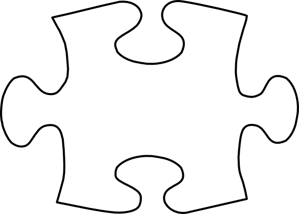 White Jigsaw Puzzle Piece Clip Art at Clker.com - vector ...