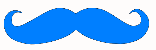 body color matched mustacheBlue Mustache Wallpaper