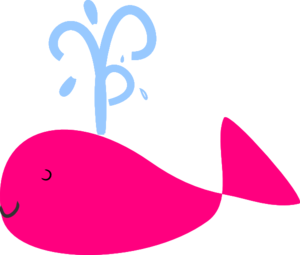 Small Hot Pink Whale Clip Art