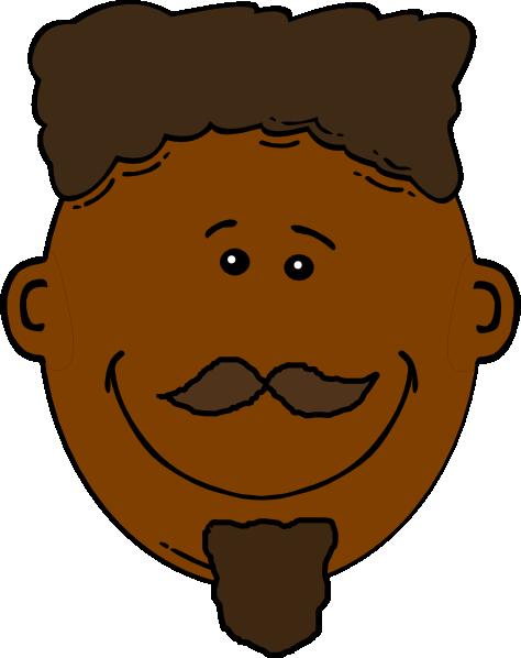 Black Smiling Man Clip Art at Clker.com - vector clip art ...
