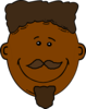 Black Smiling Man Clip Art