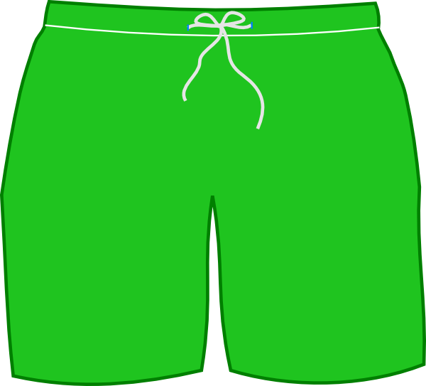 Green Swim Shorts Clip Art At Clker Com Vector Clip Art