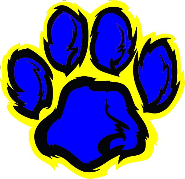 vector - Art Clker.com clip at Blue Clip Paw art Tiger