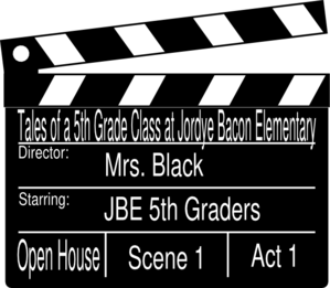Open House Clapboard Mrs. Black Clip Art