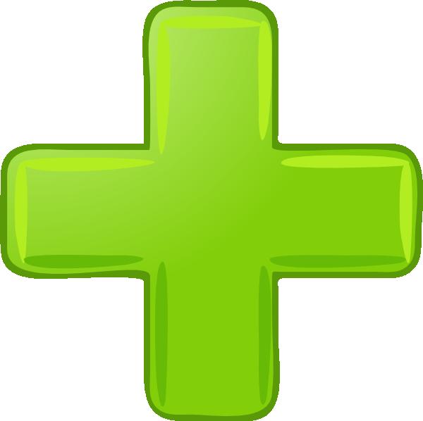 Green Plus Sign Clip A...