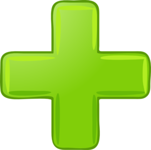 Green Plus Sign Clip Art