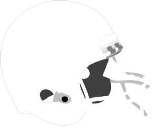White+grey Football Helmet Clip Art