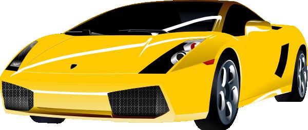 Yellow Lamborghini Clip Art At Clker Com Vector Clip Art Online