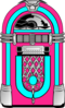 Pink And Blue Jukebox 2 Clip Art