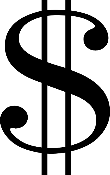 black dollar sign clip art at clker com vector clip art online rh clker com  money sign clipart