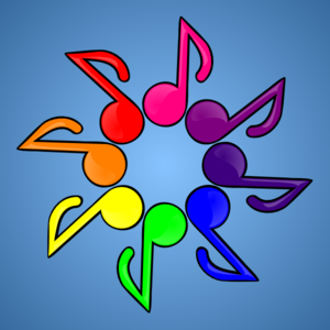 Musical Color Wheel Clip Art