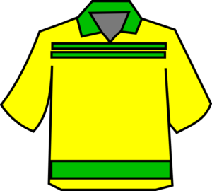 Club Shirt Yellow Clip Art