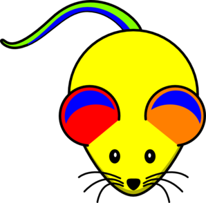 Rainbow Mouse Clip Art
