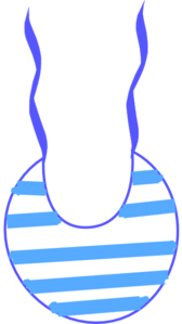 Blue White Striped Bib Clip Art
