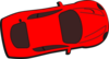 Red Car - Top View - 10 Clip Art