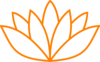 Orange Lotus Flower Picture Ii Clip Art
