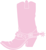 Light Pink Cowgirl Boot Clip Art