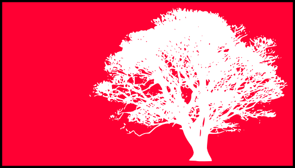 tree white silhouette red pink background clip art at