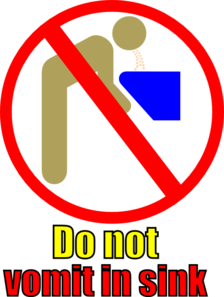 Do Not Vomit In Sink Clip Art
