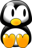 Penguin Look Right Clip Art
