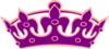 Tiara No Cross Purple On Salmon Pink Clip Art