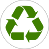 Green Recycled Symbol Clip Art
