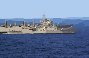 The Guided Missile Frigate Uss Ingraham (ffg 61) Sails Alongside The Fast Combat Support Ship Uss Sacramento (aoe 1) During An Underway Replenishment (unrep) Clip Art