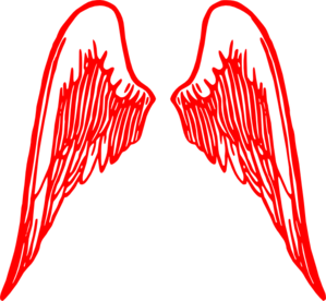 Red Angel Wings Clip Art