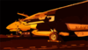 An F-14d Tomcat Is Readied For Night Flight Operations Clip Art