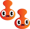 Orange Cartoon Heads Clip Art