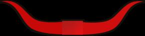 Bull Horns, Red Clip Art at Clker.com - vector clip art ...