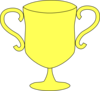 Trophy Yellow Cup Clip Art