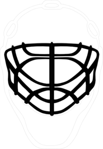 Black Goalie Mask Clip Art