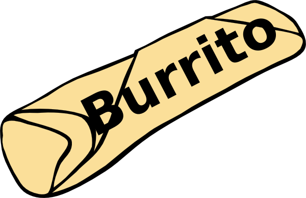 Burrito Clip Art at Clker.com - vector clip art online, royalty free ...
